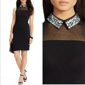 Ralph Lauren jeweled collar black dress